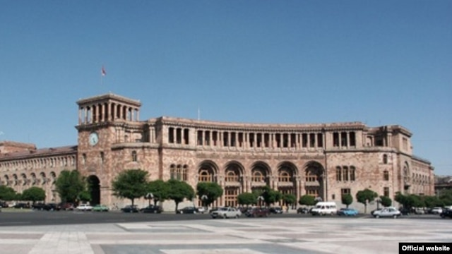 Armenia -- The government building in Republic Square in Yerevan.