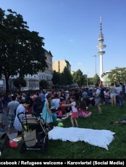 Сбор помощи для беженцев в Гамбурге