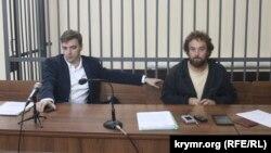 Железнодорожный суд Крыма, на фото фото Александр Попков и Алексей Шестакович
