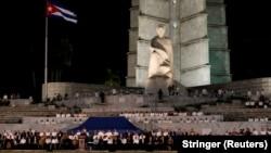 На церемонии прощания с лидером Кубинской революции Фиделем Кастро в Гаване. 29 ноября 2016 года.