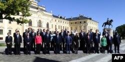 Участники саммита G-20 в Петербурге. 6 сентября 2013 года