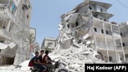 Pamje nga provinca Idlib.
