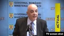 Doctorul Raed Arafat anunțîndu-și demisia
