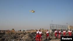 Місце падіння українського літака в Ірані, 8 січня 2020 року