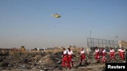 Місце падіння українського пасажирського літака в Тегерані, Іран, 8 січня 2020 року