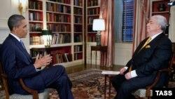 Президент США Барак Обама дает интервью агентству ИТАР-ТАСС.