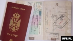 Serbia - Serbian passport with Schengen visa,undated