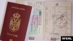 Serbia - Serbian passport with Schengen visa,undated