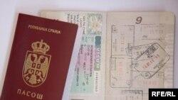 Šengen viza u pasošu, ilustrativna fotografija