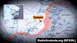 Село Троїцьке на карті зони проведення бойових дій
