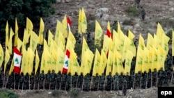 Pjesëtarë të grupit miltant, Hezbollah, ilustrim.