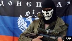 Блок-пост сепаратистов на подступах к Славянску, 10 мая 2014
