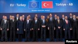 Եվրամիություն-Թուրքիա գագաթնաժողովի մասնակիցները, Բրյուսել, 7-ը մարտի, 2016թ․