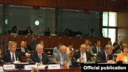 Belgium -- Armenian Foreign Minister Edward Nalbandian at the Eastern Partnership Ministerial meeting, Brussels, 23Jul2013