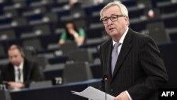 Жан-Клод Юнкер виступає в Європарламенті, Страсбург, 5 липня 2016 року