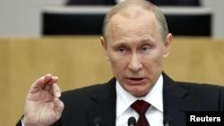 Владимир Путин, премьер-министр России, избранный президентом. Москва, 11 апреля 2012 года.
