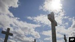 Varrezat në Vukovar, qyteti kroat i shkatërruar nga lufta