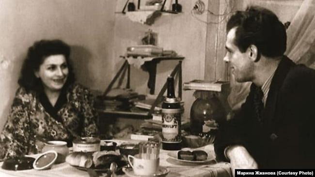 Георгий Жженов с женой Ириной
