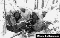 Фінскія кулямётчыкі падчас савецка-фінскай вайны