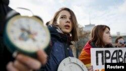 Militanți gay în fața Parlamentului Ucrainei