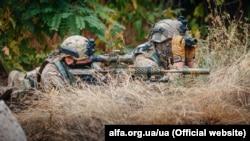 Бійці Центру спеціальних операцій «А» СБУ під час вишколу на сході України (архівне фото)