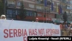 Protesta kundër kandidimit të Jeremiqit për sekretar në OKB
