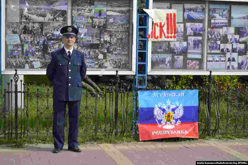 Victory Day in Luhansk, Ukraine