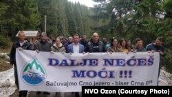 Višednevni protesti građana Žabljaka i ekologa za spas Crnog jezera