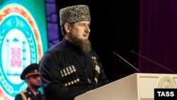 Россия, Чечня. Рамзан Кадыров во время инаугурации. Грозный, 05.10.2016