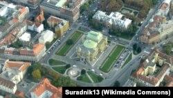 Pogled iz zraka na Trg maršala Tita, Zagreb