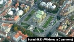 Božo Kovačević: Radi se o povijesnom revizionizmu (na fotografiji: pogled iz zraka na Trg maršala Tita, Zagreb)