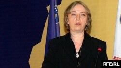 Kryetarja e KQZ-së, Nesrin Lushta.