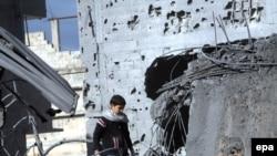 اردوگاه آوارگان جبلیه یکی از اهداف حملات هوایی اسراییل بوده است. (عکس: epa)