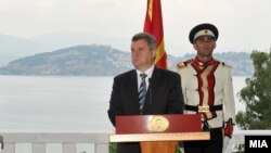 Macedonia -- UN Secretary General Ban Ki-Moon meet with President Gjorge Ivanov in Ohrid, 25Jul2012
