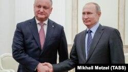 Владимир Путин ва Игор Додон