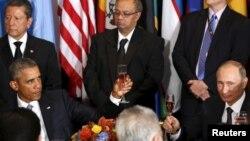 Prezidentlər Obama və Putin BMT ziyafətində