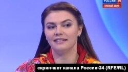 Алина Кабаева в эфире России-24 22 февраля 2014