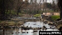 Набережная реки Салгир в Симферополе, 21 марта 2018 года