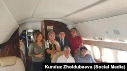 Бывший президент Кыргызстана Алмазбек Атамбаев и его сторонники