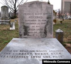 F.Scott Fitzgerald və həyat yoldaşının məzarı