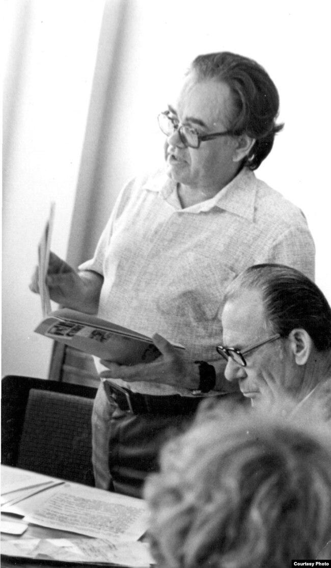 Міхал Дубянецкі на працы. 1980-я гг.