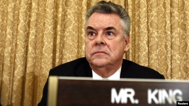 Representative Peter King during the hearing in Congress