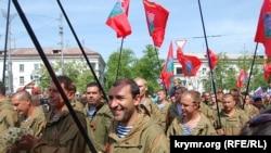 Військовий парад до дня перемоги. Анексований Севастополь, Крим, 9 травня