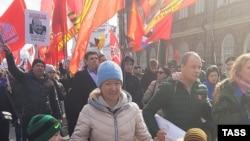 Участники митинга в Архангельске