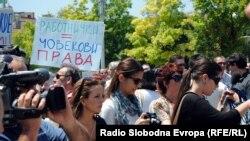 Од минатонеделните протести на новинарите