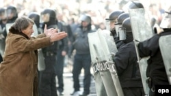 Sarajevo, protest pred zgradom Vlade Kantona, 13 februar 2008
