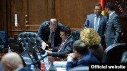 Mbledhje e Qeverisë së Maqedonisë së Veriut.