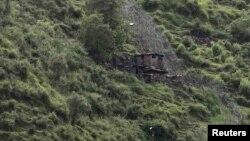 Кашмирдеги чек ара линиясындагы Индиянын көзөмөл бекеттеринин биринин көрүнүшү, 7-август, 2013