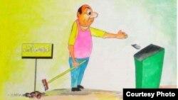 Jawad al-Sadyň çeken karikaturasy