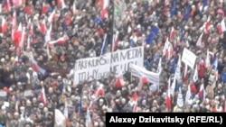 Митинг в защиту общественных СМИ. Варшава, Польша, 9 января 2016 года.